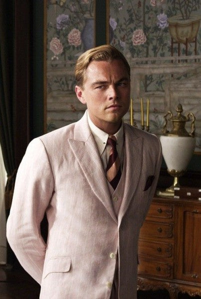 The Great Gatsby Leonardo Dicaprio Pink Suit