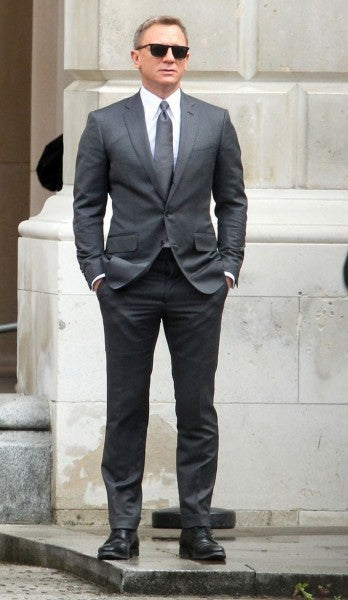 James Bond Spectre Notch Lapel Grey Suit