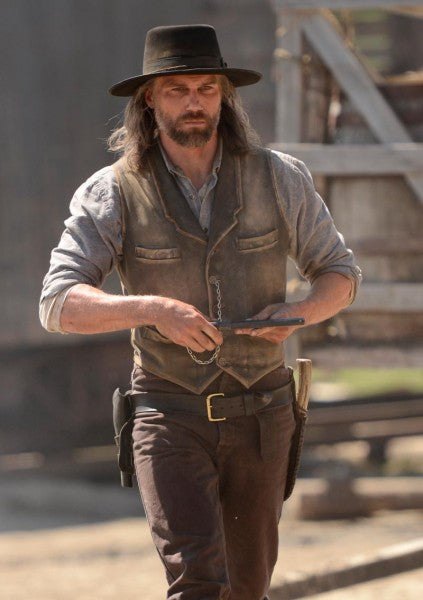 Hell on Wheels Cullen Bohannon Leather Vest celebscloting