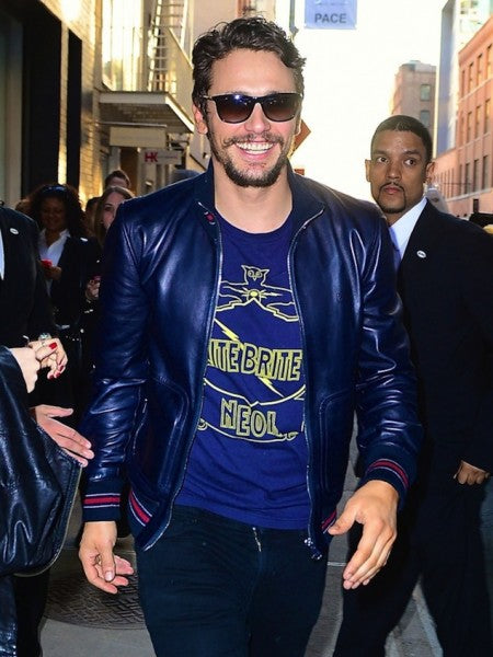 James Franco Blue Leather Jacket
