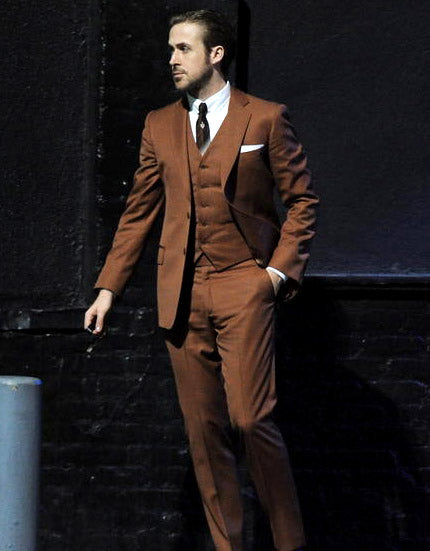 Ryan Gosling La La Land Brown Suit