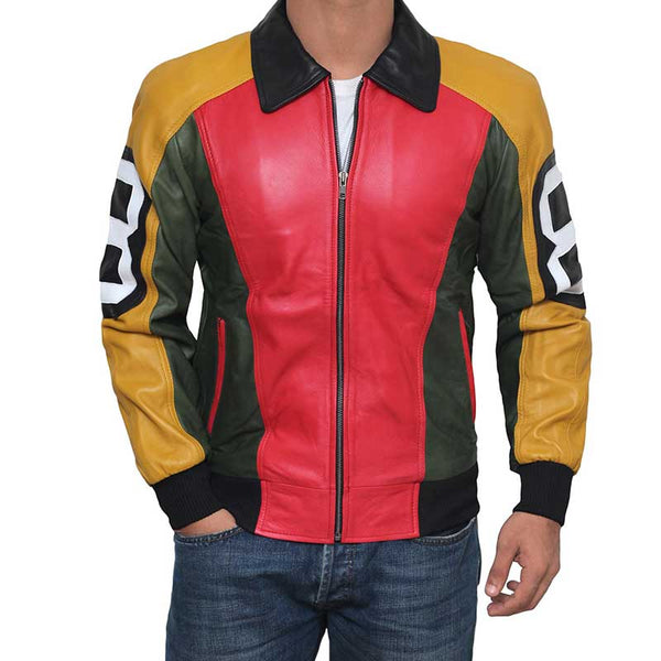 Yellow and Red Bomber Jacket