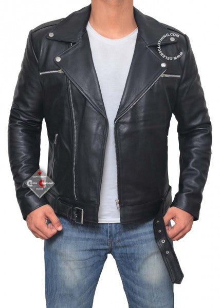 Real Lambskin Motorcycle Jacket
