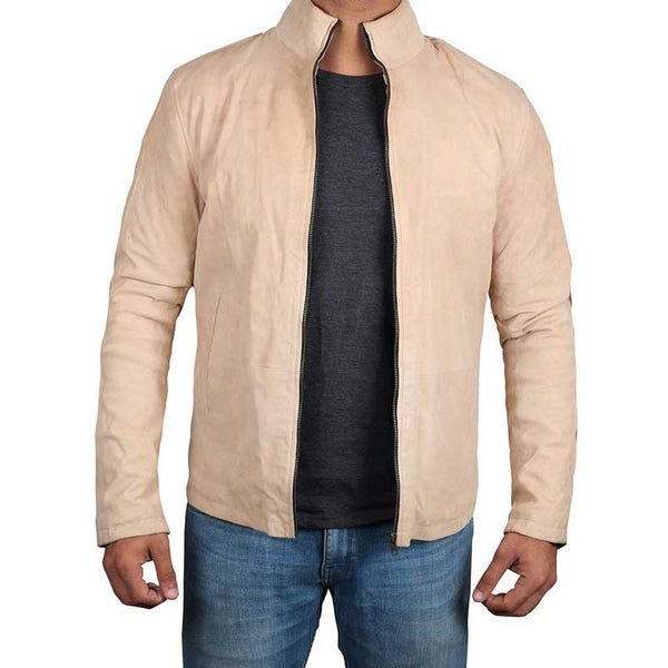 Morocco Cream Suede Leather Jacket