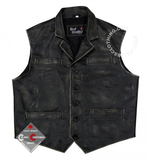 Hell on Wheels Cullen Bohannon Leather Vest