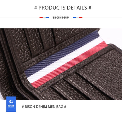 Bison Demin Leather Wallet