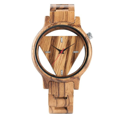 Triangle Wood Watch for Men
