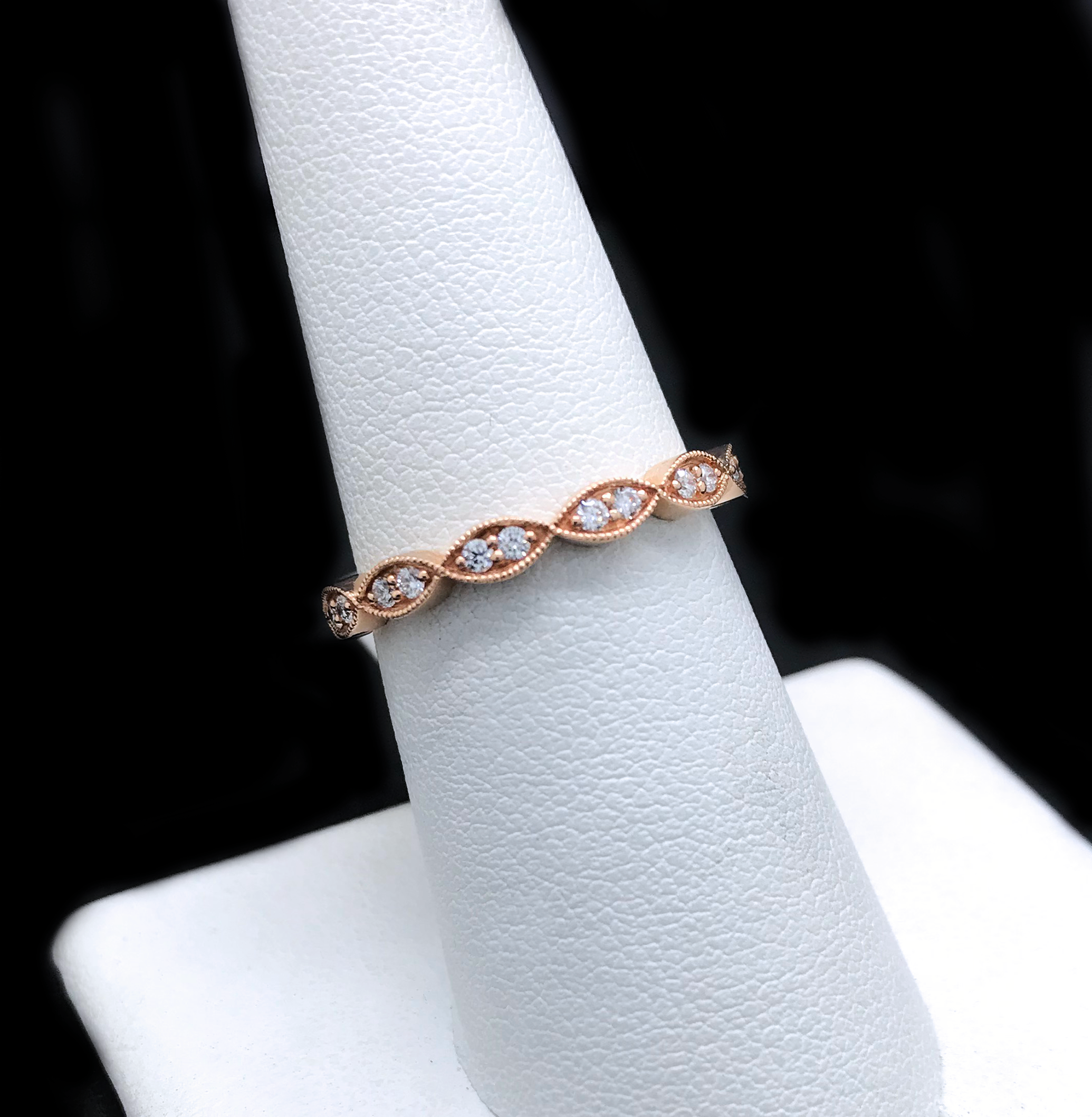 Argolla De Dama De Oro 14KT/14KT Rose Gold Diamond Women's Wedding Band
