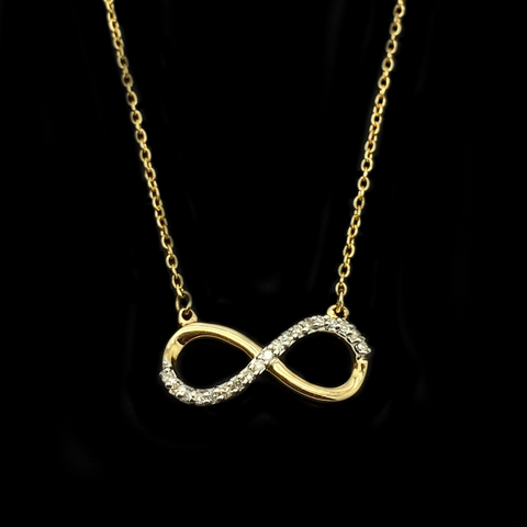 10KT Infinity Diamond Necklace