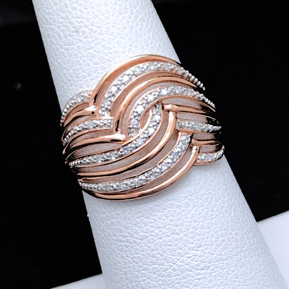 Women's 0.10CTW Diamond Ring in 10KT Rose Gold