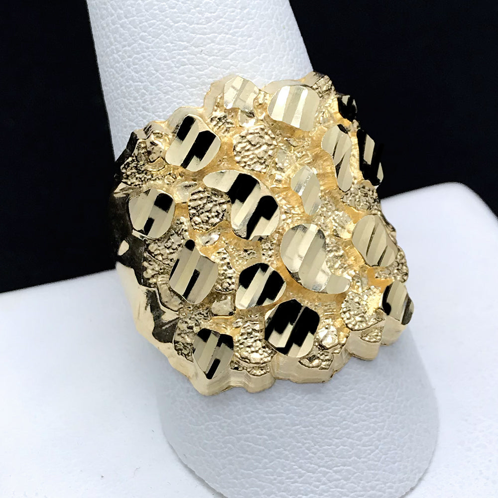 Men's Nugget Ring in 10KT Gold