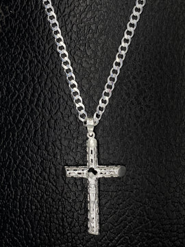 Set de Cruz con Cadena de Plata 925/Sterling Silver Cross with Chain Set