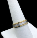 Argolla De Caballero De Oro 10KT/10KT Gold Two Tone Men's Wedding Band