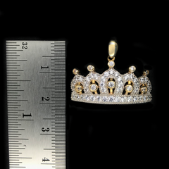 Dije de Corona De Princesa De Oro 10KT/Women's Princess Tiara With Cubic Zirconia Pendant in 10KT Gold