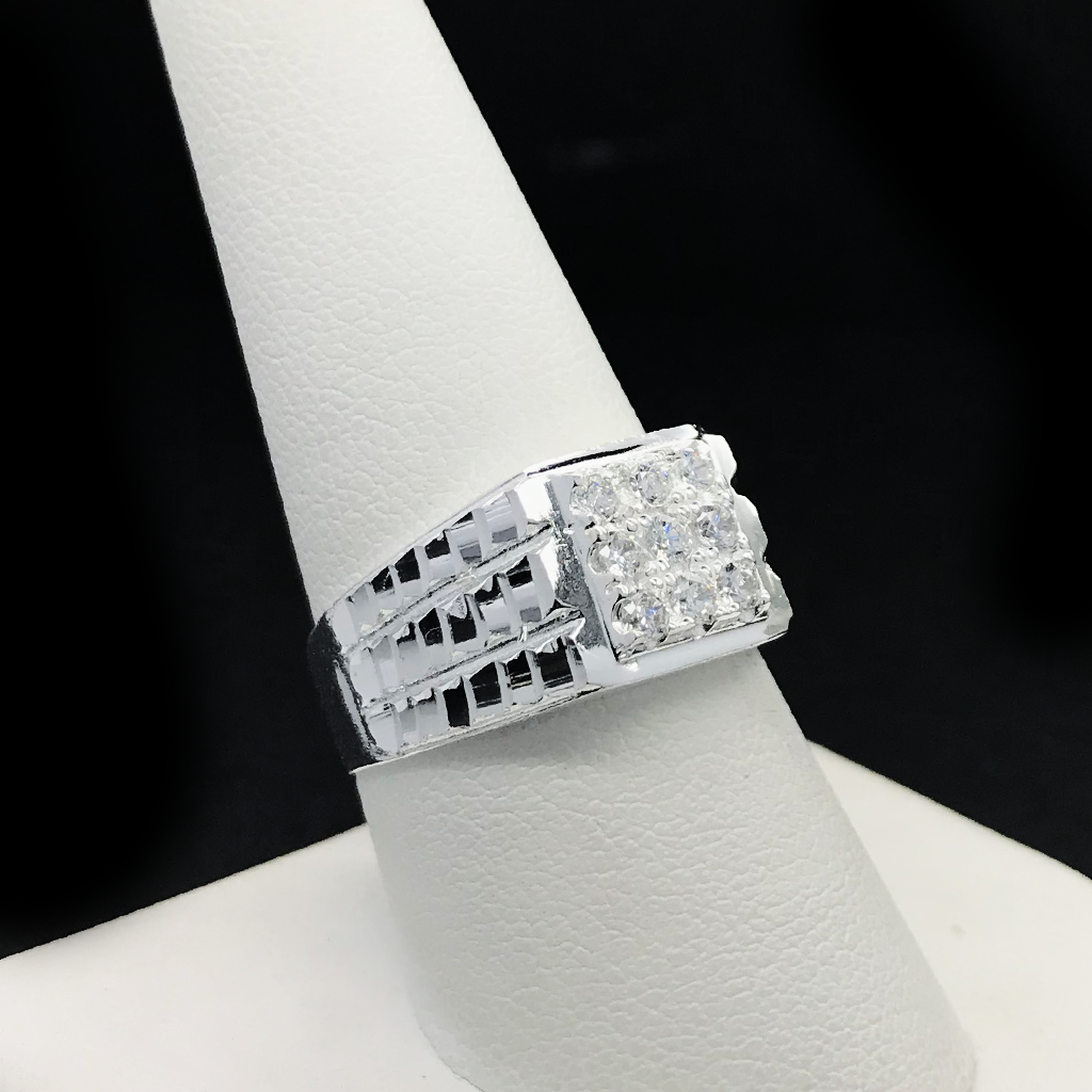 Anillo De Caballero Con CZ De 925 Plata/Sterling Silver Men's Ring With CZ