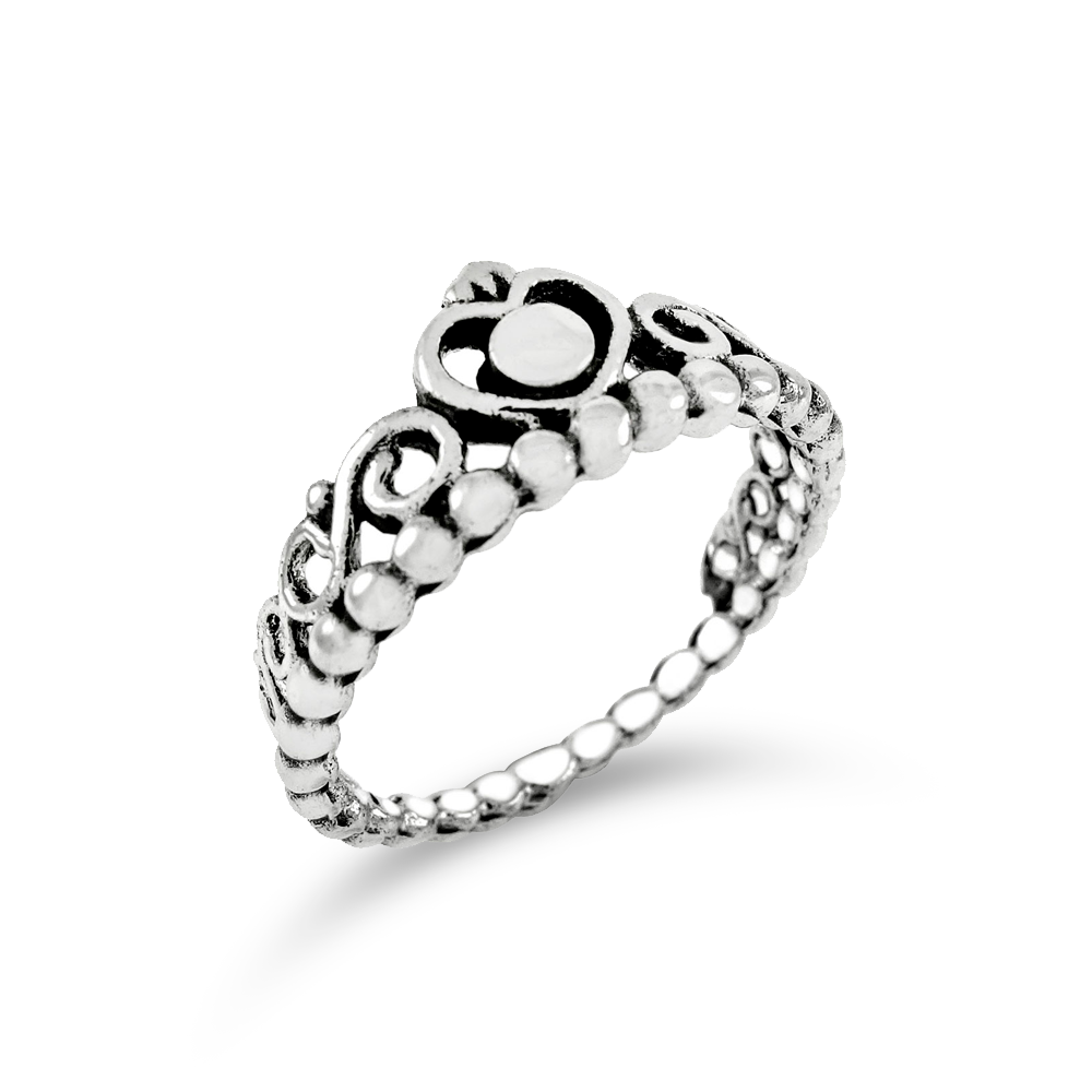 Sterling Silver Crown Ring/Anillo de Plata Diseño de Corona