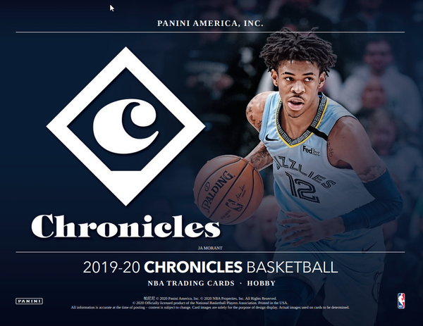 2019-20 Chronicles Basketball Hobby Box