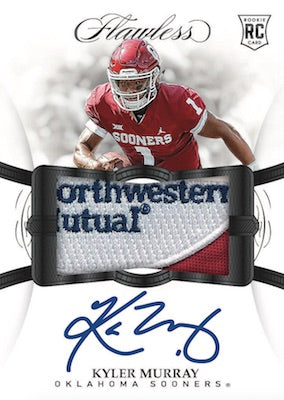2019 Flawless Collegiate Football 2 Box Case PYT #1