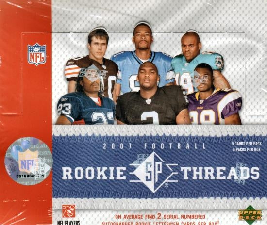 2007 UD SP Rookie Threads Football Hobby Box