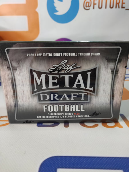 2020 Leaf Metal Football JUMBO Box (10 autos)