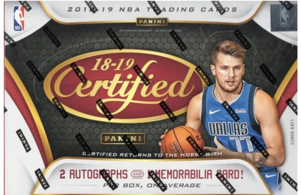 2018/19 Certified Basketball 12 Box SEALED CASE