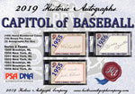 2019 Historic Autographs Capitol of Baseball 10 Box SEALED CASE