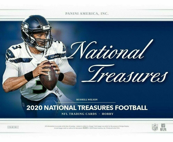 2020 National Treasures Football Hobby Box (ships 4/15)
