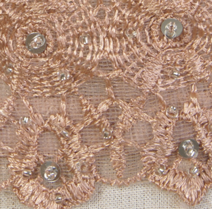 Nude Mesh Lace Bead Bustier