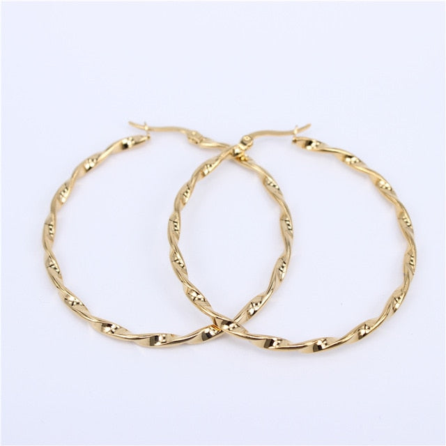 15mm-70mm size Twisted Hoop Earrings