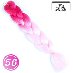 Single Ombre Color 100g 24 Inch Synthetic Hair