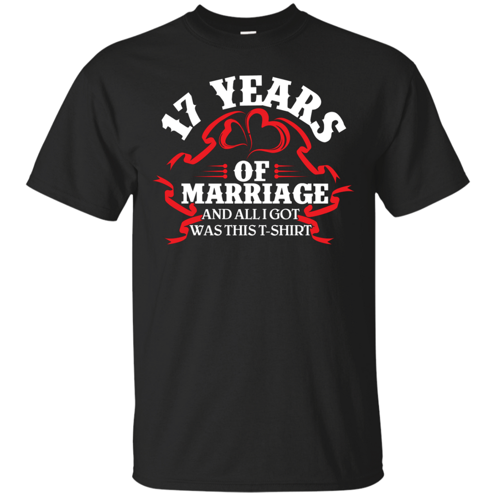 17th Wedding Anniversary Gift Shirt For Couples Ultra Cotton T Shirt