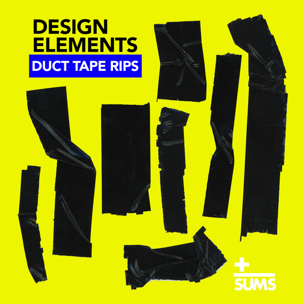 Black Duct Tape Rips - Design Elements