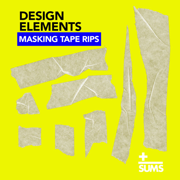 Masking Tape Rips - Design Elements