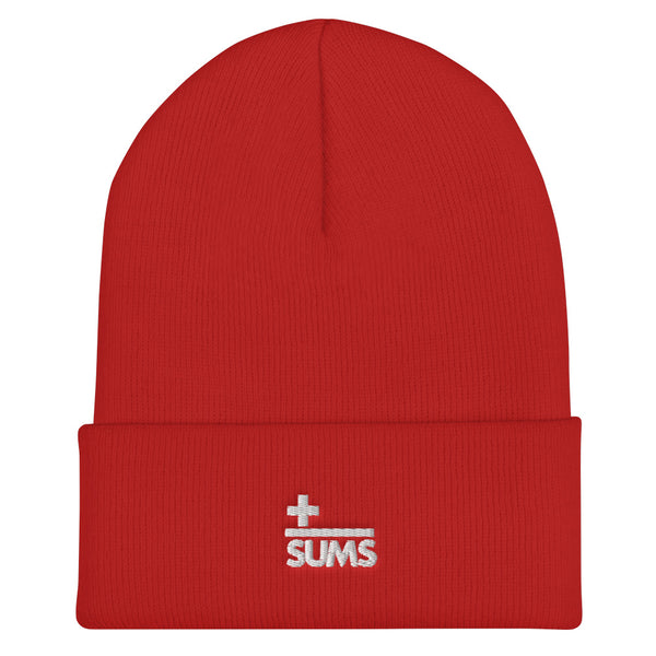 SUMS Brand Embroidered Beanie