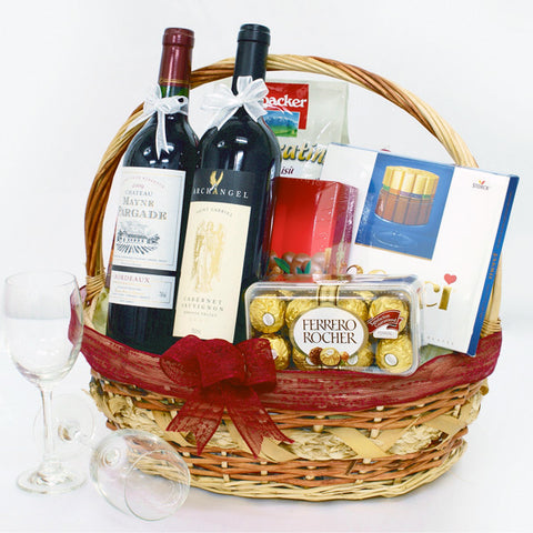 Sweet Toast KGH0044 | Gift Hamper Basket | Katong Flower Shop Free Delivery