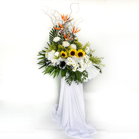 Eternal Memory KFW0001 | Funeral Condolence Wreath | Katong Flower Shop Singapore