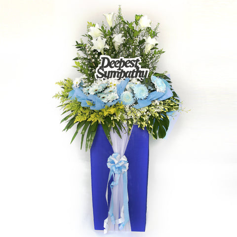 Remembrance KFW0017 | Funeral Condolence Wreath | Katong Flower Shop Free Delivery