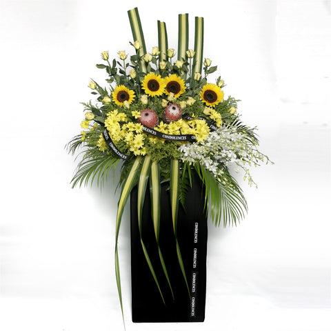 Circle of Life KFW0030 | Funeral Condolence Wreath | Katong Flower Shop Singapore Free Delivery