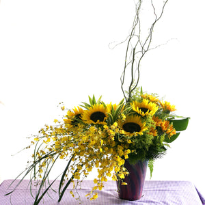 Sunflower table flower arrangement by Katong Flower Shop for Singapore Delivery