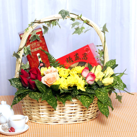 Health Booster KGH0006 | Wellness Gift Hamper Basket | Katong Flower Shop Singapore Delivery