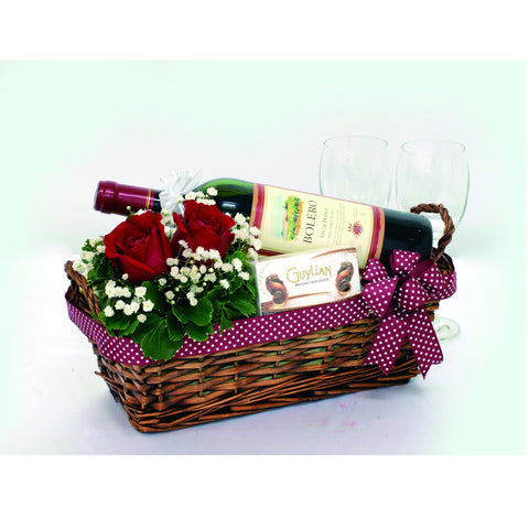 Romantic Touch KGH0039 | Romantic Gift | Wine Singapore Basket
