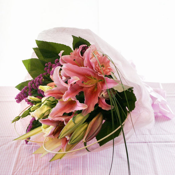 KHB0022 Blushing First Love | Lilies Bouquet