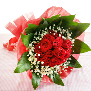 18 Red Rose Bouquet Katong Flower Shop with Delivery Options_Free Delivery to the whole of Singapore