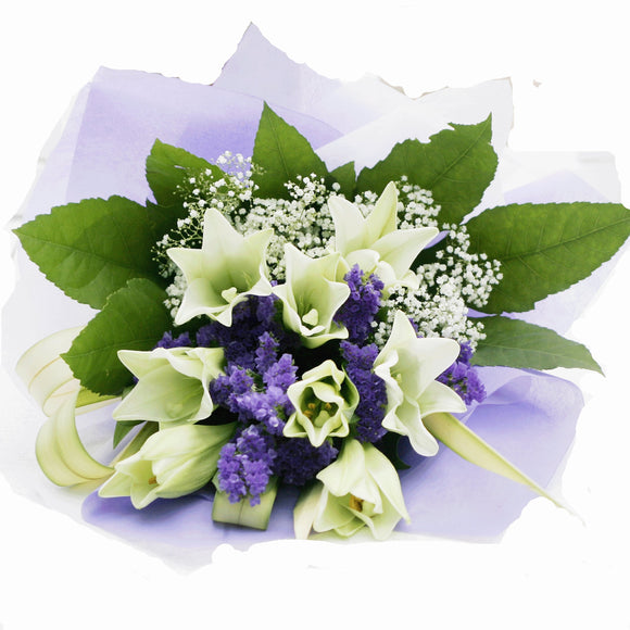 KHB0034 Beautiful Flowers | 8 Lilies Bouquet