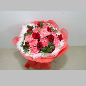 Beauty KHB0046 | Carnations and Roses Bouquet