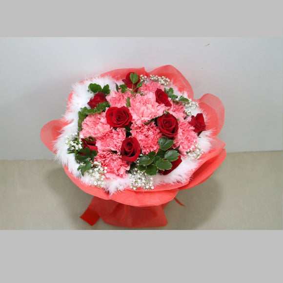KHB0046 Beauty | Carnations and Roses Bouquet