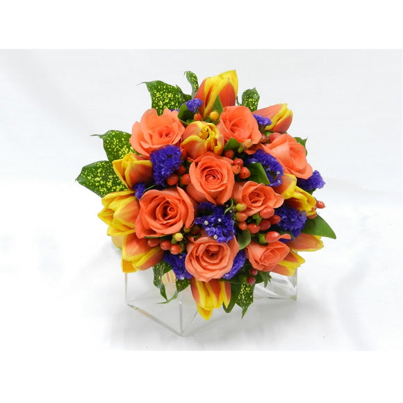 KHB0070 On Cloud Nine | Tulips and Roses Bouquet