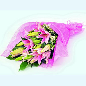 Pretty in Pink KHB090 | Lilies Bouquet