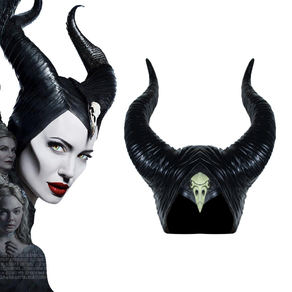 Queen Maleficent Horns Headpiece Halloween Costume Hat