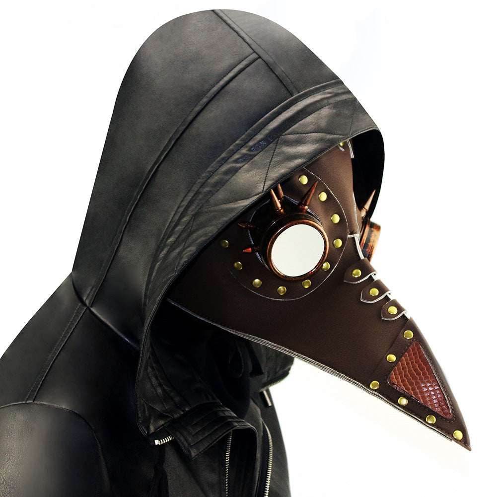 Cosplay Plague Bird Doctor Mask with Goggles Gothic Face Mask